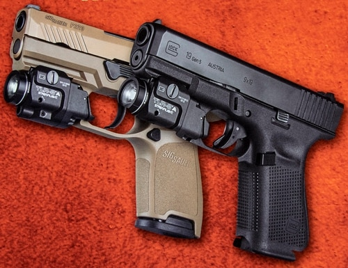 StreamLight's new TLR-8A / TLR-8AG mounted on a SIG P320 and Glock 5th Generation Model 19