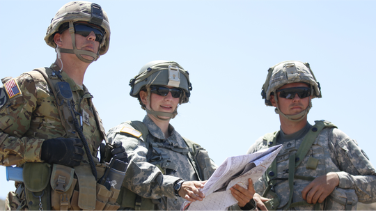 While it's unlikely that GPS will be spoofed, paper maps are a good back-up. (Katherine Zins/Army)