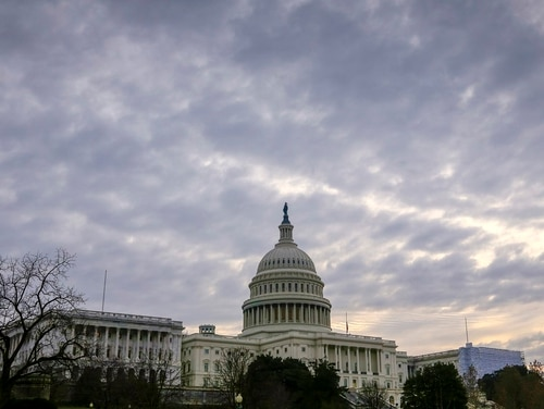 The Capitol is seen in Washington, Friday morning, Dec. 14, 2018. Parties and Christmas cookies only soothe so much in the chilly Capitol after two years of President Donald Trump's provocations, dramas like Supreme Court Justice Brett Kavanaugh's confirmation and the elections that flipped the House majority to Democrats. Everyone wants to go home, yet both chambers were scheduled to be in session next week over hefty matters, including the budget and criminal sentencing reform. (J. Scott Applewhite/AP)