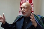 Afghan ex-president Karzai welcomes Gitmo 5 into peace talks, sees post-war role for Taliban