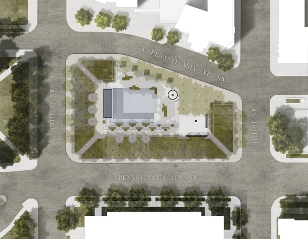 The site for the national World War I Memorial is planned for Pennsylvania Avenue in Washington.