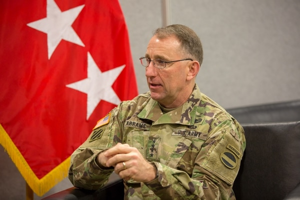 Gen. Robert Abrams, head of U.S. Army Forces Command, says exercises will be used to evaluate future capability as well as train on what is current. (Jeff Martin/Staff)