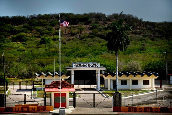 The U.S. naval base at Guantanamo Bay has been a thorn in Cuba's side for 115 years and counting. (Ramon Espinosa/AP)