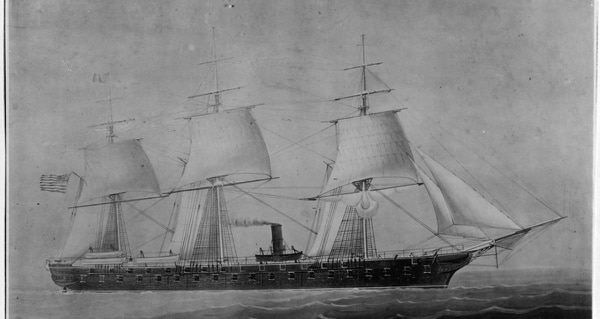 USS Colorado, circa 1856-1885. (Navy photo)