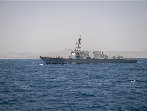 The U.S. warship Nitze, shown here in 2019, conducted a freedom of navigation operation off Venezuela on Tuesday, according to U.S. Southern Command. (Navy)