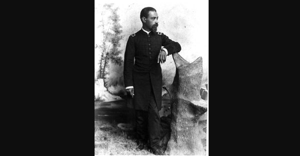 The Navy petty officer who became an Army chaplain, Lt. Col. Allen Allensworth, the founder of Allensworth, California. (Smithsonian Institution)