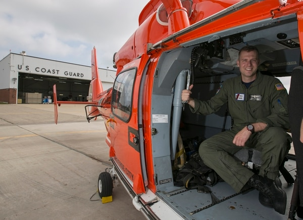 Coast Guard Aviation Maintenance Technician 2nd Class Lee Biladeau, a finalist for Service Member of the Year, is photographed at Air Station Traverse City in Traverse City, Mich., on Thursday, June 18, 2015. (Mike Morones/Navy Times)