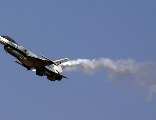 Some industry cooperation could stem from the fact that the UAE and Israel both operation the F-16 fighter jet. (Marwan Naamani/AFP via Getty Images)