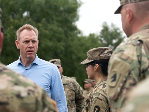 With acting Defense Secretary Patrick Shanahan's sudden withdrawal from the Senate confirmation process, the world's largest military might be without a permanent leader for several more months to come. (Sgt. Amber I. Smith/Army)