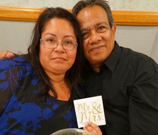 This undated photo provided by Make the Road New York shows Concepcion, left, and her husband Margarito Silva. (Make the Road New York/Silva family photo via AP)
