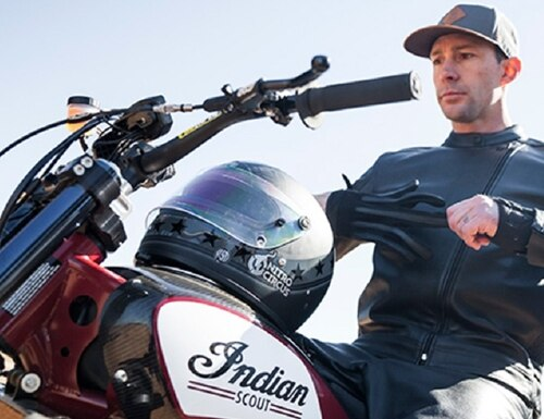 Daredevil (and Marine brat) Travis Pastrana will attempt one of Evel Knievel's most spectacular jumps on an Indian FTR750 bike. (Indian Motorcycle)
