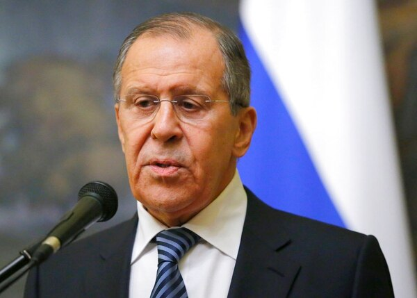 Russian Foreign Minister Sergey Lavrov speaks in Moscow, Russia, Thursday, March 29, 2018. Russia's foreign minister says Moscow will expel the same number of diplomats from the nations that have expelled Russian diplomats over the poisoning of an ex-Russian spy in Britain. (Alexander Zemlianichenko/AP)