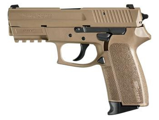 The Army recently purchased a suite of Sig Sauer weapons, including the SP2022 pistol pictured here for foreign military sales. (Sig Sauer)