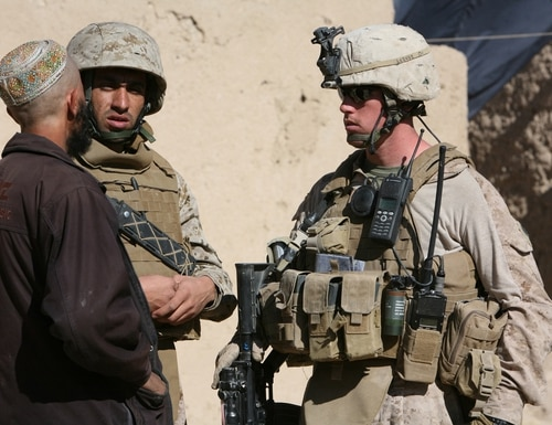 Thousands of Afghan interpreters and their families will be evacuated from Kabul to complete their Special Immigrant Visas. (Cpl. Zachary Nola/Marine Corps)