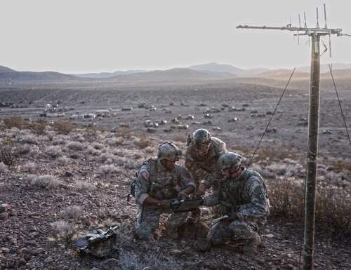 The Army is conducting a series of experiments to figure out the right mix to achieve information advantage for commanders. (Sgt. Michael Spandau/U.S. Army)