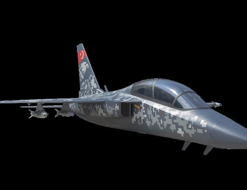 An artist's rendering of the Hurjet fighter aircraft. (Turkish Aerospace Industries)