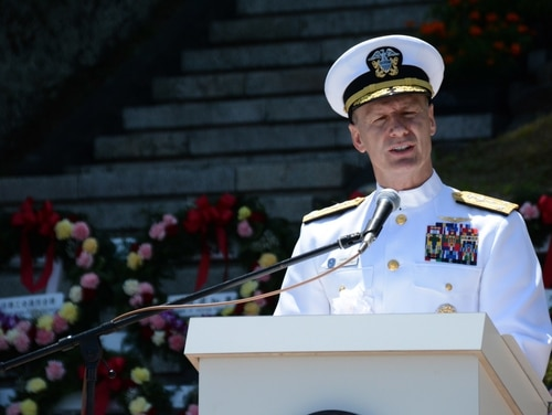 Vice Adm. Joseph P. Aucoin was fired Aug. 23 as commander of U.S. 7th Fleet days ahead of his planned retirement. (Daniel A. Taylor/Navy)