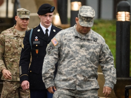 The Army's appeals court is weighing whether to throw out Bowe Bergdahl's conviction. (Andrew Craft /The Fayetteville Observer via AP)