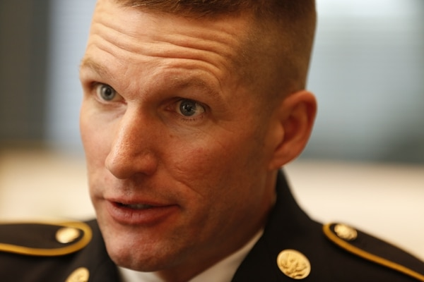 Command Sgt. Maj. Dan Dailey is interviewed at the Pentagon in Arlington, Va., on Thursday, January 29, 2015. Dailey will be the 15th Sergeant Major of the Army. (Mike Morones/Staff)