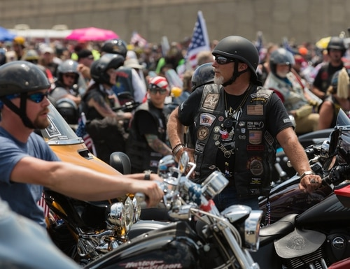 Motorcyclists take part in the annual Rolling Thunder ride in Washington, D.C. on May 27, 2018. (James Williams/staff)