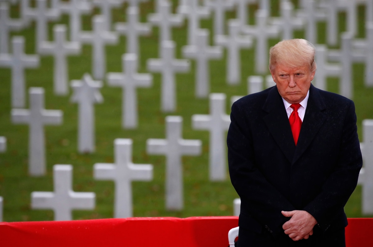 Trump expresses regret for not visiting Arlington National Cemetery