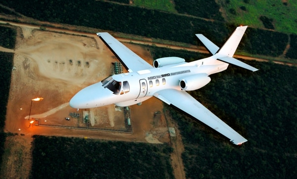 Bird Aerosystems produces the ASIO aircraft, which provides information, surveillance and reconnaissance capabilities. (Courtesy of Bird Aerosystems)