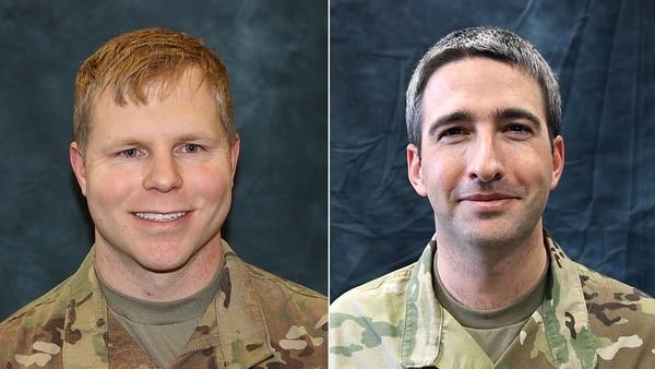 Maj. Patrick J. Bell and Maj. Evan R. Davies
