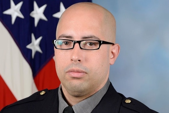 Officials identified Senior Officer George Gonzalez, 37, as the Pentagon Police Officer who was killed during Tuesday's violent incident at the Pentagon bus platform. (DoD photo)