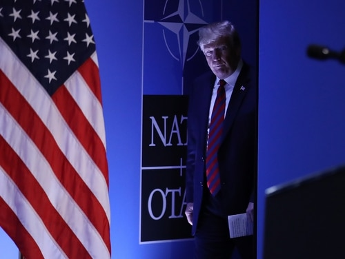 U.S. President Donald Trump announced plans to ask NATO allies to step up efforts in the Middle East. (Sean Gallup/Getty Images)