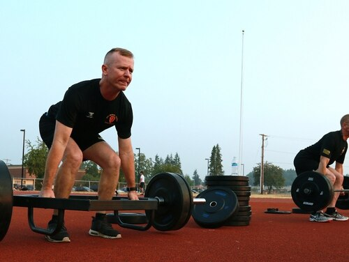 The deadlift exercise, which requires a hexagon bar, is one of the new exercises and equipment requirements that makes the new Army Combat Fitness Test a concern for some National Guard and Army Reserve units. (Sgt. Erik Warren/Army)
