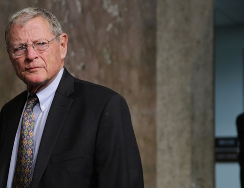 Sen. James Inhofe sold anywhere between roughly $395,000 and $850,000 worth of stock he held in multiple companies in late January and early February, according to a disclosure. (Chip Somodevilla/Getty Images)