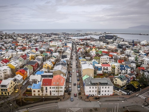 The city of Reykjavík, seen here from Hallgrímskirkja, was invaded by thirsty American sailors and Marines who nearly caused the city to run out of beer. (J.D. Simkins/Staff)
