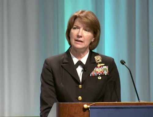 DISA director Vice Admiral Nancy A. Norton said there is no doubt in her mind the U.S. military is engaged in heightened operations with adversaries. (Courtesy)