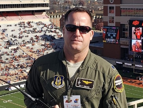 "Lt. Col. John ""Matt"" Kincade, above, an instructor pilot assigned to the 5th Flying Training Squadron, was killed during a T-38C Talon training mission Thursday."