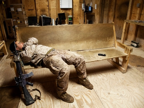 The Costs of War Project estimates nearly $300 billion spent so far on caring for Afghanistan veterans. (Cpl. Alejandro Pena/Marine Corps)