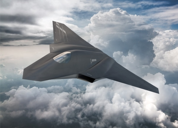 This artist's rendering from Boeing shows one concept for the Air Force's future fighter, known as Next Generation Air Dominance. (Boeing)