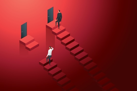 You have steps to take to climb your career ladder. (lerbank/Getty Images)