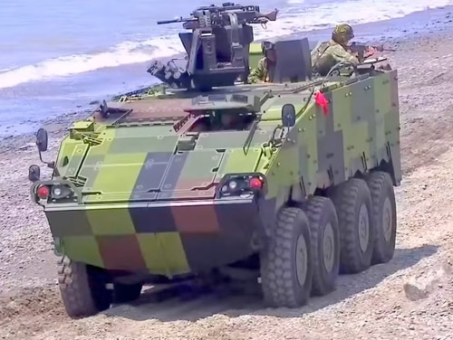 A CM-32 Clouded Leopard armored personnel carrier is seen here. Taiwan ordered Orbital ATK 30mm Mk44 Bushmaster II automatic cannons in a contract issued on Sept. 27 that will be used on an infantry fighting vehicle variant of the CM-32 Clouded Leopard. (Taiwan's National Chung-Shan Institute of Technology)