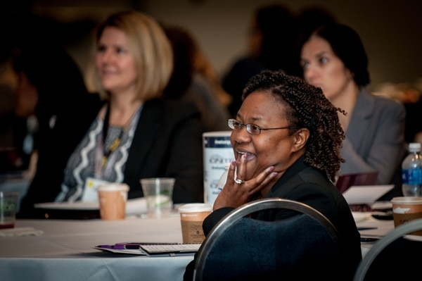Women veterans, service members and military spouses participate in an entrepreneurship event hosted by the Syracuse University Institute for Veterans and Military Families and Veteran Women Igniting the Spirit of Entrepreneurship in Washington, D.C. (Provided by the Institute for Veterans and Military Families)