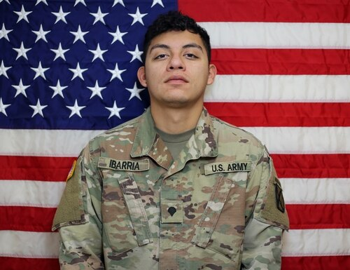 Spc. Vincent Sebastian Ibarria, 21, from San Antonio died in a vehicle rollover accident July 3, 2020, in Farah, Afghanistan. (DoD)