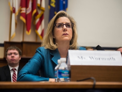 Then-Defense Undersecretary for Policy Christine Wormuth testifies at a House Armed Services Committee hearing on March 3, 2015. (Gabriella Demczuk/Getty Images)