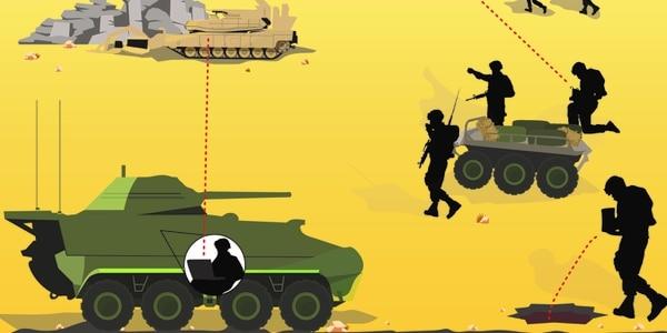 Future wars may be fought with mechanized battle buddies. (Jacki Belker/Staff)