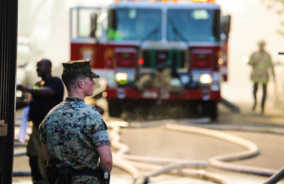 Barracks Marines rush in to rescue senior citizens caught in