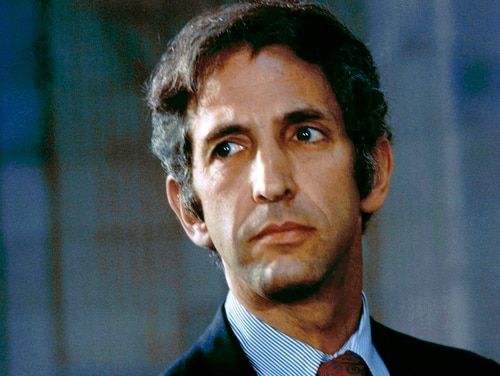 This May 18, 1973, file photo shows Daniel Ellsberg, the former government consultant who in 1971 released the Pentagon Papers that exposed the deceit of American policymakers during the Vietnam War. (AP)
