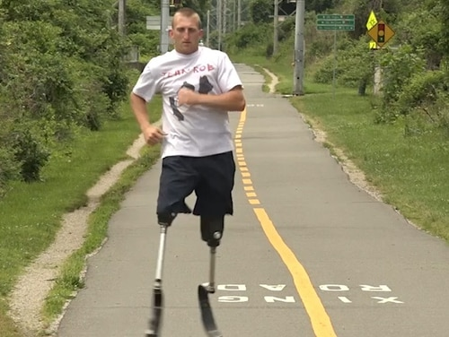 Rob Jones won a bronze medal in rowing at the 2012 Paralympic Games, bicycled 181 days across the U.S., and is now taking on his latest mission: running 31 marathons in 31 days. (Alan Lessig/Staff)