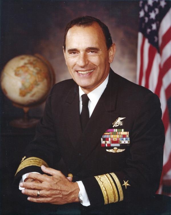 This circa 1975 portrait by the U.S. Navy shows Adm. Richard