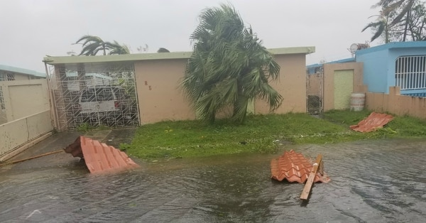 The flooding on Ian Hurtado's old street in Bayamón, Puerto Rico, eventually came up to just below his knees, the Navy veteran told Military Times. (Ian Hurtado)