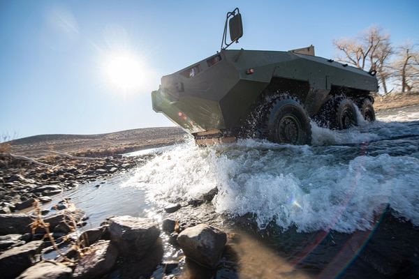 Textron submitted its Cottonmouth prototype as its offering to the Marine Corps' Advanced Reconnaissance Vehicle competition. (Courtesy of Textron)