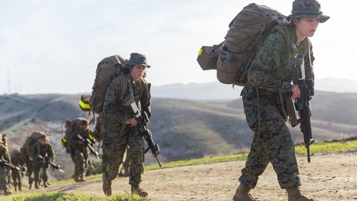First West Coast gender integrated Marine Combat Training class graduates