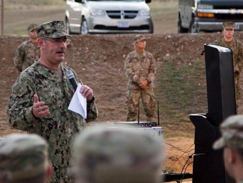 Navy Rear Adm. John Ring was fired in April head of Joint Task Force-Guantanamo. (Sgt. Zach Tomesh/National Guard)
